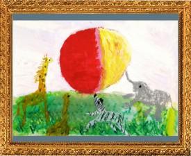 『月と太陽と国旗と』