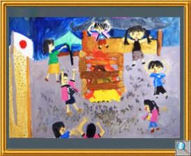 『紫神社でのキャンプファイヤー』