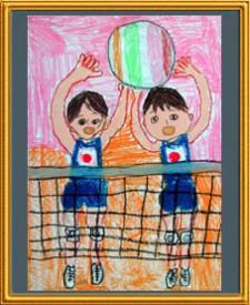 『バレー 日本対ブラジル』