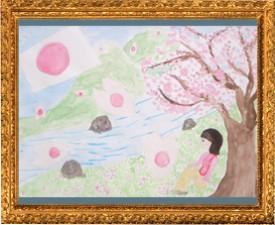 『桜ふぶき』